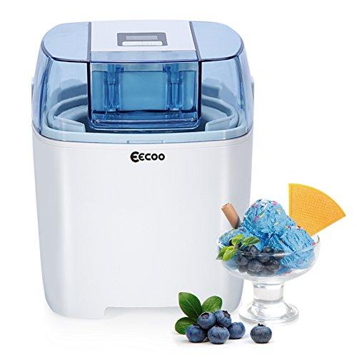 Eismaschine,Ice Cream Maker,Frozen Yoghurt Maschine,Eismaschinen,Yogurt Maker,1 5 liter Speiseeismaschine mit Timer, inkl. Rezeptvorschläge, - Gefrierschrank Rezepte