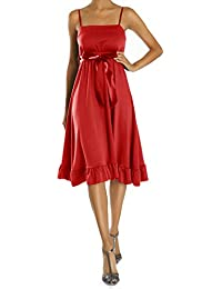 Bestyledberlin Robe pour femme, robe à bretelles, blanche, brune, grise