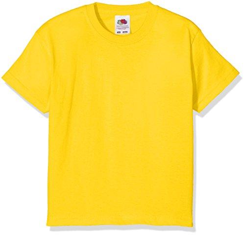 Fruit of the Loom Value T, Camiseta Niño, Amarillo (Sunflower Yellow), 9-11 años