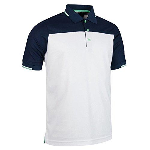 Glenmuir Herren Frederick Kurzarm Kontrast Polo Shirt Marineblau/Weiß/Garnet