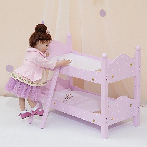 Olivia's Little World TD-0095AP Puppe Etagenbett, Lila/Gold (Girl Puppe Etagenbett-set American)