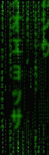 1art1 92986 Matrix - Code, Grüner Regen, 1-Teilig Fototapete Poster-Tapete 250 x 79 cm
