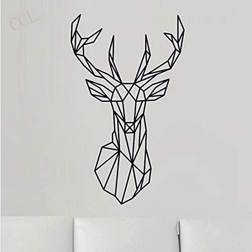 Cabeza ciervo geométrica Etiqueta pared