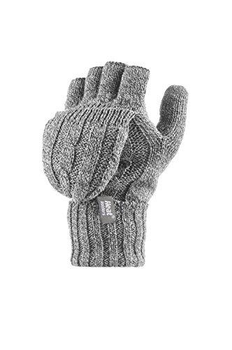 Heat Holders - Damen Thermo fingerlose Handschuhe, Fausthandschuhe-Einheitsgröße, 2.3 tog (Grau)
