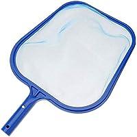 Hanmarigold 1PCS portátil Piscina Limpieza de la Red de Herramientas Profesionales Piscina Skimmer Estanque Hoja Neto para la Piscina (Azul)