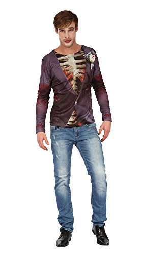 Bristol Novelty AC245 Zombie Bräutigam 3D Print Shirt (UK 42–44)