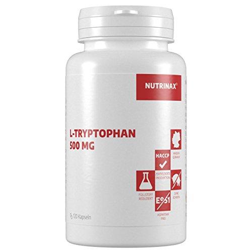 L-Tryptophan 500mg - 120 Kapseln - hochdosiert - Nahrungsergänzung - Made in Germany