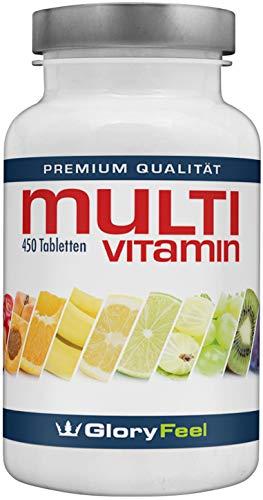 Multivitamin 450 Vegane Tabletten Hochdosiert – Der VERGLEICHSSIEGER 2018* – Alle Wertvollen A-Z Vitamine und Mineralstoffe für 15 Monate – Laborgeprüft und ohne Zusätze hergestellt in Deutschalnd