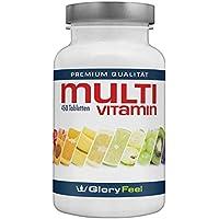 Multivitamin 450 Vegane Tabletten Hochdosiert - Der VERGLEICHSSIEGER 2018* - Alle Wertvollen A-Z Vitamine und Mineralstoffe für 15 Monate - Laborgeprüft und ohne Zusätze hergestellt in Deutschalnd