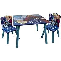 Preisvergleich für Disney Frozen Eiskönigin Sitzgruppe Tisch und 2 Stühle aus Holz Maltisch Kindermöbel