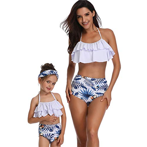 dd3644b7870 OBEEII Mother and Daughter Two Pieces Swimsuit Family Matching Outfits  Mommy and Me Bikinis Sets Sexy