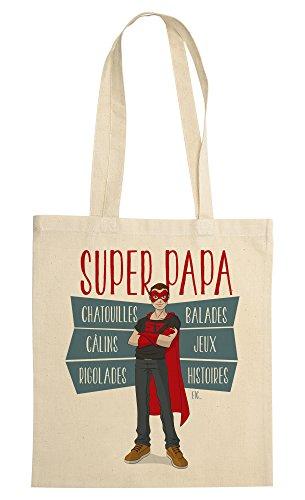 rigolobo Super Papa Tote-Bag Homme - Beige
