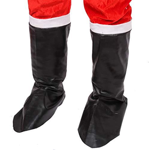 Justdolife 1 Paar Weihnachtsmann Stiefel Dekorative Stiefel Abdeckung Weihnachtsmann Kostüm Zubehör (Für Kostüme Boot-abdeckungen)