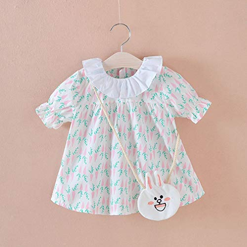 a17a1a5f5cd FDBF Fashion Baby Girls Short-Sleeved T-Shirt Dress with Lovely Pattern  Print 80cm
