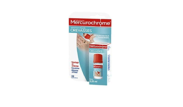 Mercurochrome Pansement Liquide Crevasses Mains 3,25 ml  Amazon.fr  Hygiène  et Soins du corps 5be2fb9afca4