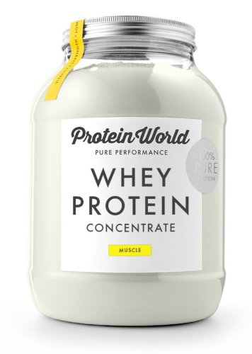 Protein World-WHEY PROTEIN concentrate-1, 1kg-fraise
