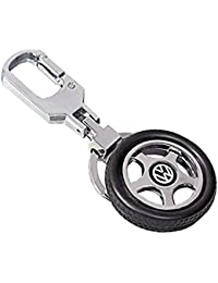 Kolossalz Volkswagen Spinning Tyre Rotary Wheel Locking Metal Keychain / Keyring / Key Ring / Key Chain