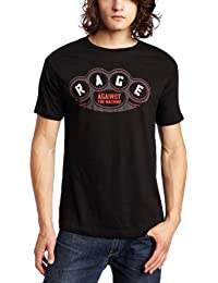FEA Merchandising Men's Rage Against The Machine Brass Knuckles Slim Fit T-Shirt