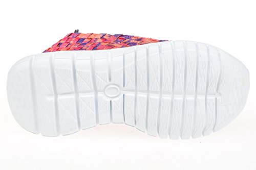 GIBRA® Enfants Loisirs Chaussures tressé, rose/orange/violet, taille 24–35 Rose - pink/orange/lila