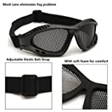 #6: TRIXES Tactical SWAT Airsoft Eye Protection Goggles No Fog Metal Mesh Glasses (black)