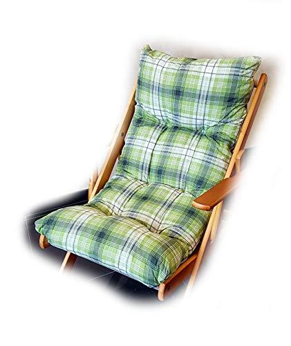 Totò piccinni cuscino imbottito di ricambio per poltrona sedia sdraio harmony relax, 105x55x14cm (verde)