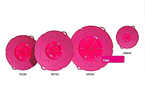 Preisvergleich Produktbild Cookline KOCHBLUME Überkochstop Spritzschutz, kochblume:Mittel Q 29 cm 14-24 cm;Blumenfarbe:Pink