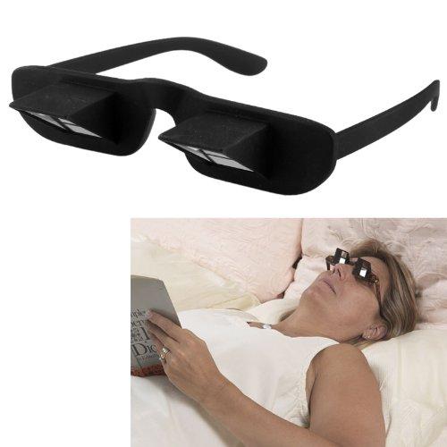 Hochwertige Periskop Brille bequem lesen liegend lesen Brille Spiegelbrille Prismabrille Blick umlenkende Winkelbrille TV-Brille Modell Frau