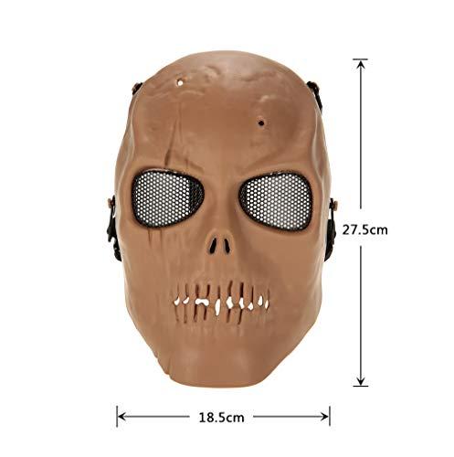 Festliche Maske, die Maske spielt Vollgesichts-Airsoft-Maske mit Metallgitter-Augenschutz für Aktivitäten im Freien, Party, Filmrequisiten, für die meisten Erwachsenen geeignet Halloween verkleiden si (Die Aktivitäten Spiele Halloween-party Für Und)