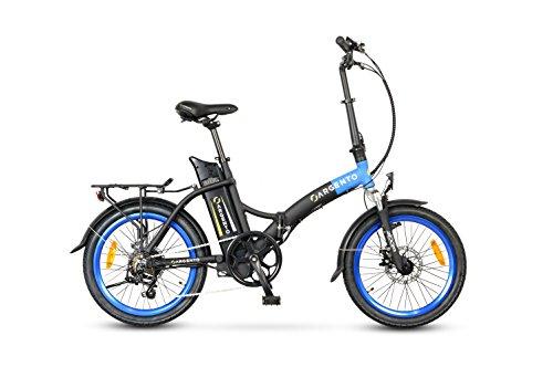 Argento Piuma, Bicicletta Unisex – Adulto, Blu, Telaio 42 cm