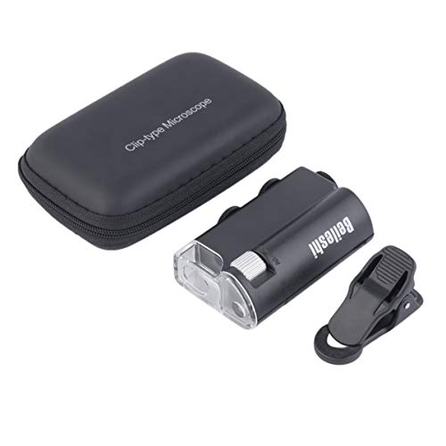 LED 60X-100X Lupe Währungserkennung Schmucklupe Clip-on Mikroskop Brand New Worldwide store