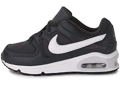 Nike Air Max Command (PS), Chaussures de Sport Fille, Noir (Anthracite/Blanc-Violet Vif), 31 1/2