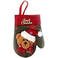 NAttnJf Christmas Stockings Silverware Holder Cutlery Bag Tableware Pocket Xmas Decor Bear