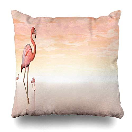 Klotr Decorative Fundas Almohada Sunset Water Pink