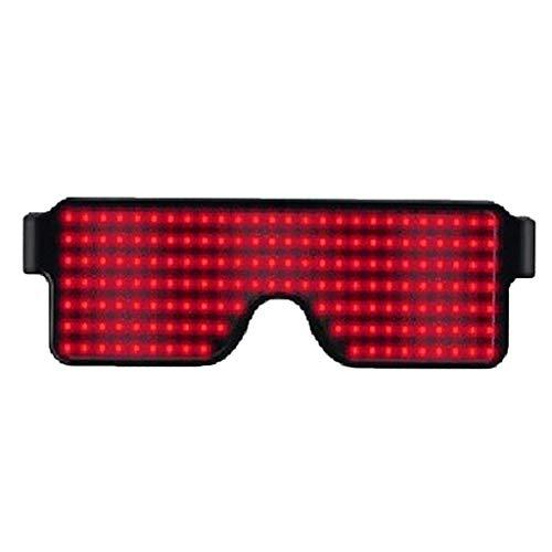 P Prettyia Leuchtbrille Leuchten Brille LED Leucht