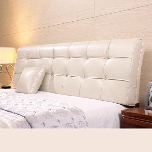 Dossier De Chevet Coussin en cuir en coton Coussin double oreiller grand coussin souple Housse ergonomique protecteur design Pure Color Lumbar Support 58 * 160cm (Couleur : I)