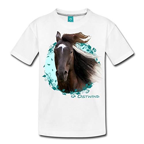 Spreadshirt Ostwind Aris Ankunft Ostwind Porträt Teenager Premium T-Shirt, 146/152 (10 Jahre), Weiß (Mädchen Für T-shirt Einheitliche)