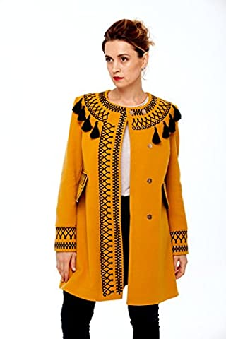 Boho Style Dress - Manteau - Femme marron Ocre