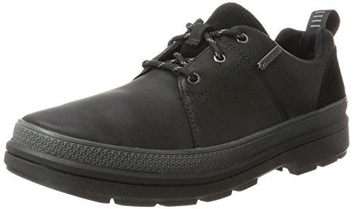 Clarks Herren Rushwaylacegtx Klassische Stiefel, Schwarz (Black Leather), 41.5 EU