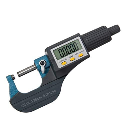 "Beslands Micrometer Digitale Bügelmessschraube 0-25mm/ 0.001mm Hohe Präzision Elektronische Digitale Mikrometer Mikrometerschieber Länge Messwerkzeug Mikrometer 0.001mm(0.00005"")"