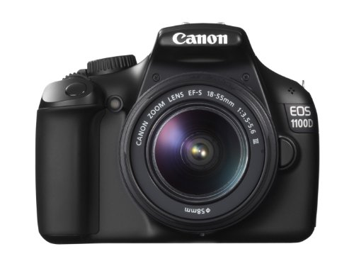 Canon EOS 1100D SLR-Digitalkamera (12 Megapixel, 6,9 cm (2,7 Zoll) Display, HD-Ready, Live-View) Kit inkl. EF-S 18-55mm 1:3,5-5,6 DC III (not stabilized)