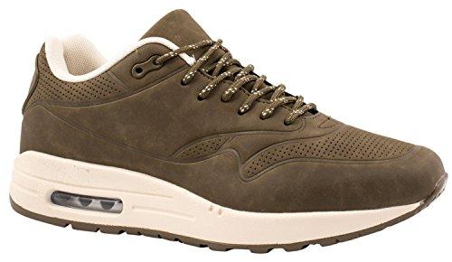 Elara Sneaker Di Alta Qualità   Comode Scarpe Sportive Da Uomo Basse   Scarpe Da Ginnastica Moderne Da Corsa   Verde Militare Chunkyrayan