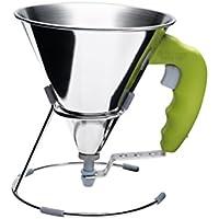 De Buyer Kwik - Embudo con pistón, color verde