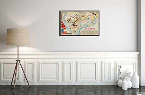 New York Karte Company (TM) 1940Karte Welt die Welt Nach Standard (der) Diese ungewöhnliches, aber Optisch Arretierung Welt Map|Vintage Fine Art Reproduction|Ready Zum Rahmen