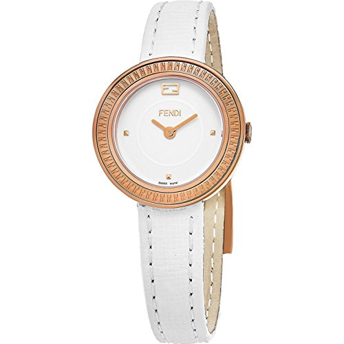 FENDI Women's My Way 28MM White Leather Band Swiss Quartz Watch F354524041