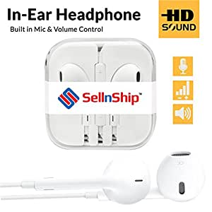 SellnShip 3.5 mm Earphones for Android/iOS Phones (White)