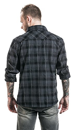 Brandit Checkshirt Hemd Grau/Schwarz/Weiß grau/schwarz/weiß