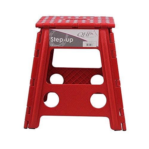 Klapphocker Step-up, faltbarer Hocker für Stall, Haus, Camping versch. Farben, Farbe:rot