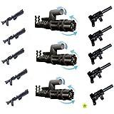 LEGO Star Wars / Little Arms Waffenset: 3 x Minigun Pathmaker (Z-6 Rotationsblaster) und 5 x Tommy Gun (Maschinenpistole) sowie 5 x Rifle für Clone Trooper - insgesamt 13 TOP Waffen für Ihre Sammlung