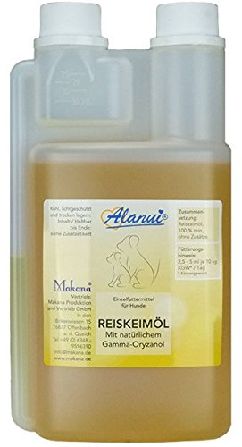 alanui Reiskeimöl, raffiniert, 100% rein, Dosierflasche, 1er Pack (1 x 250 ml)