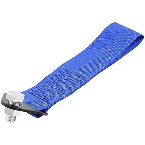 Racing de nylon azul remolque Correa Conjunto de gancho posterior del frente del carro del coche